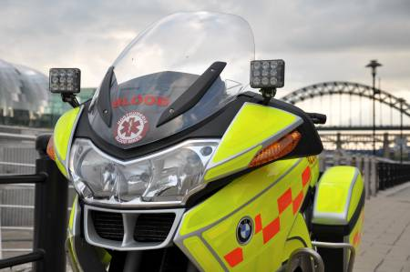 Photo of Northumbria Blood Bike on Newcastle Quayside