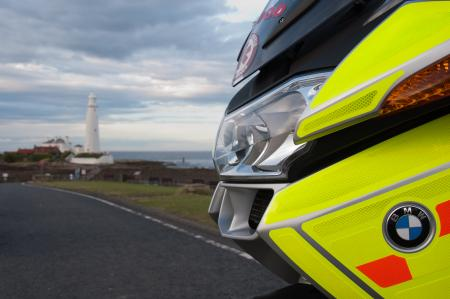 Photo of Northumbria Blood Bike near St Mary's Lighthouse