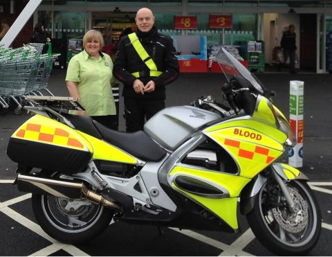 Phot of Octagon, with livery, fundraising at ASDA Gosforth