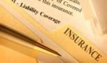 Picture of insurance documents.
